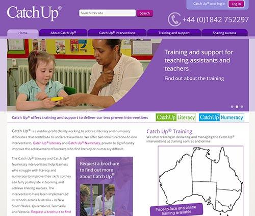 Catch Up Australia website homepage