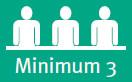 Minimum 3